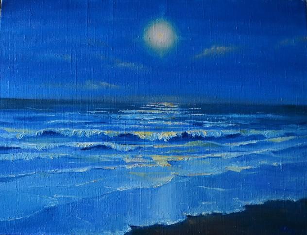 Ночное море Тайланда.